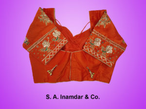 Raw Silk with Golden Thread Work-Back